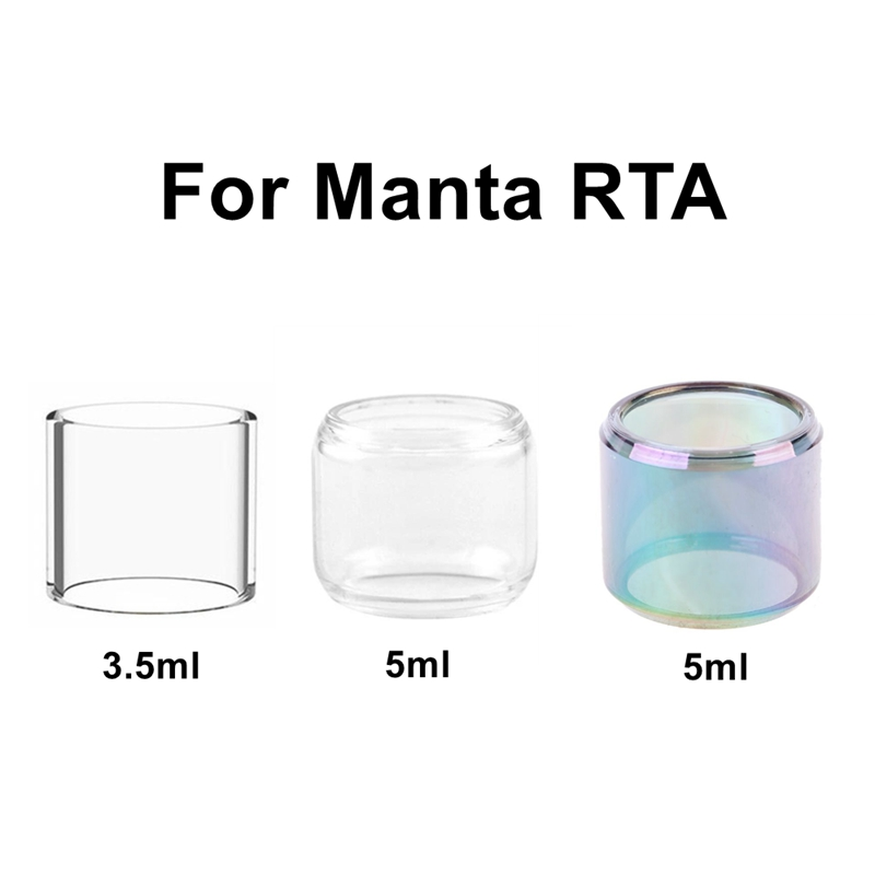 4/1pcs Pack Hongxingjia Original Replacement Bulb Bubble Pyrex Glass Tank Tube For Manta RTA Atomizer