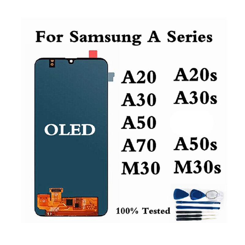 OLED For <font><b>Samsung</b></font> A20 A205 Display For <font><b>Samsung</b></font> A20 <font><b>A30</b></font> A50 A70 M30 <font><b>LCD</b></font> Display Screen For <font><b>Samsung</b></font> A20S A30S A50S M30S Display image