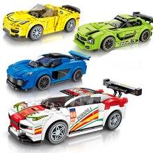 Город супер гонщики совместимые Legoed игрушки гоночная модель автомобиля блоки-кирпичики DIY блоки спортивные строительные блоки игрушки для детей