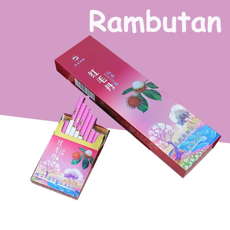Травяной чай Rambutan, дымчатый черный чай, тонкая сигарета, чтобы бросить курить 100% без табака, 100%-ный никотиновый чай, курить, не содержит табак...