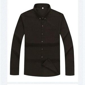 Image 3 - Antumn גדול גודל שמלת חולצות חתונה גברים משרד חולצה ארוך שרוול פורמליות עסקים oversize חולצה 10XL 9XL 12XL 60 56 58 סגול