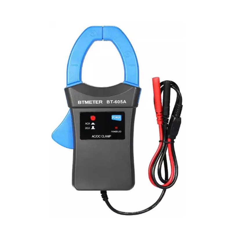 BTMETER Clamp Meter BT-605A AC/DC 600A Clamp-on Current Probe Amp Adapter With Battery Perfect For Work With Digital Multimeters