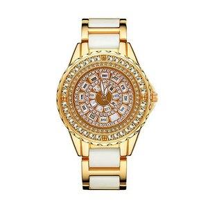 Image 1 - Bayan saat bracelet pour femmes, marque de luxe, montre à Quartz décontractée