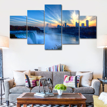 5 panel art posters and print Niagara Falls canvas painting landscape poster home decoration wall art picture living room neil sedaka niagara falls