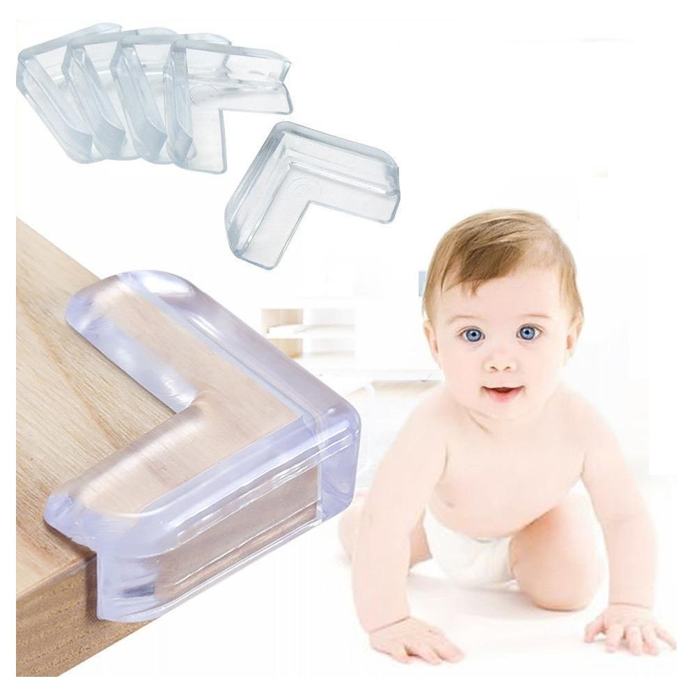 4Pcs Transparent PVC Protector Anti-collision Edge Corner Guards Table Corner Protection Cover For Children Kids Baby Safety