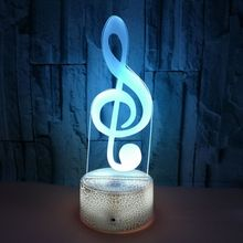 3D Musical Note Night Light Creativity Colorful LED Desk Lamp Bedroom Aecoration Best Gift For MusicFans Kids Friend