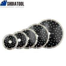 SHDIATOOL 1pc Diamond Hot Pressed Segmented SawBlade with Multi Hole Cutting Disc for Granite Marble Stone Tile Concrete Blade