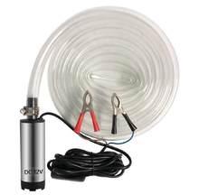 Pompe Submersible électrique de cc 12 V pour pomper la coquille d'acier inoxydable de l'eau de gazole 12L/min pompe de transfert de carburant 12 V Volt