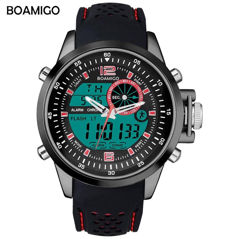 BOAMIGO Top Brand Luxury Watch Men Sports Watches Analog Digital Watch Luminous Military Quartz Wristwatches Relogio Masculino