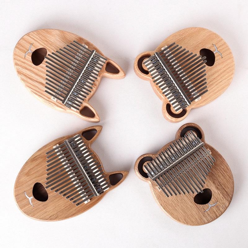 17 Key Kalimba Afrikaanse Duim Piano Vinger Percussie Toetsenbord Muziekinstrumenten Kids Marimba Hout Kalimba