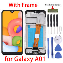 5.7 for para samsung galaxy a01 display lcd & digitador assembléia completa & quadro para galaxy SM-A015F/ds, SM-A015G/ds, SM-A015M/ds