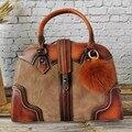 Retro Frauen Handtaschen Luxus Handtaschen Frauen Taschen Designer Hobo Große Kapazität Tote Tasche Weiblichen Echtem Leder Taschen für Frauen 2019