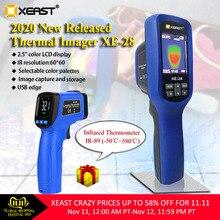 Xeast 2,4 дюймов цветной экран портативная тепловая камера тепловизор камера Инфракрасный термометр XE-28 экономичный тепловизор