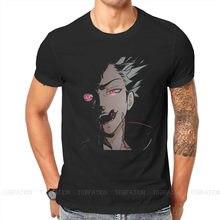 Camisetas estilo Hipster de Seven Deadly Sins para hombre, camisetas de tela Harajuku de trébol negro, cuello redondo de gran tamaño