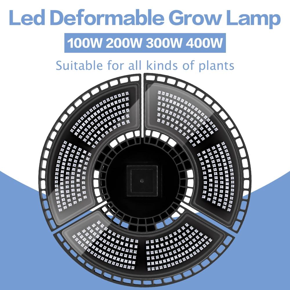 Indoor E27 Led 400W Grow Light Panel Full Spectrum Phyto Lamp For Flowers E26 Lamp For Plants Warm White Leds Fitolamp Grow Tent 6