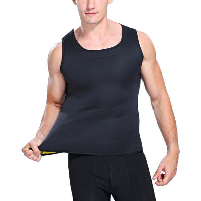Fitness Men'S Fashion Belt Shirt Shaper S,M,L,XL,XXL,XXXL Green Black Training Vest Fashion Sweat Suit 5