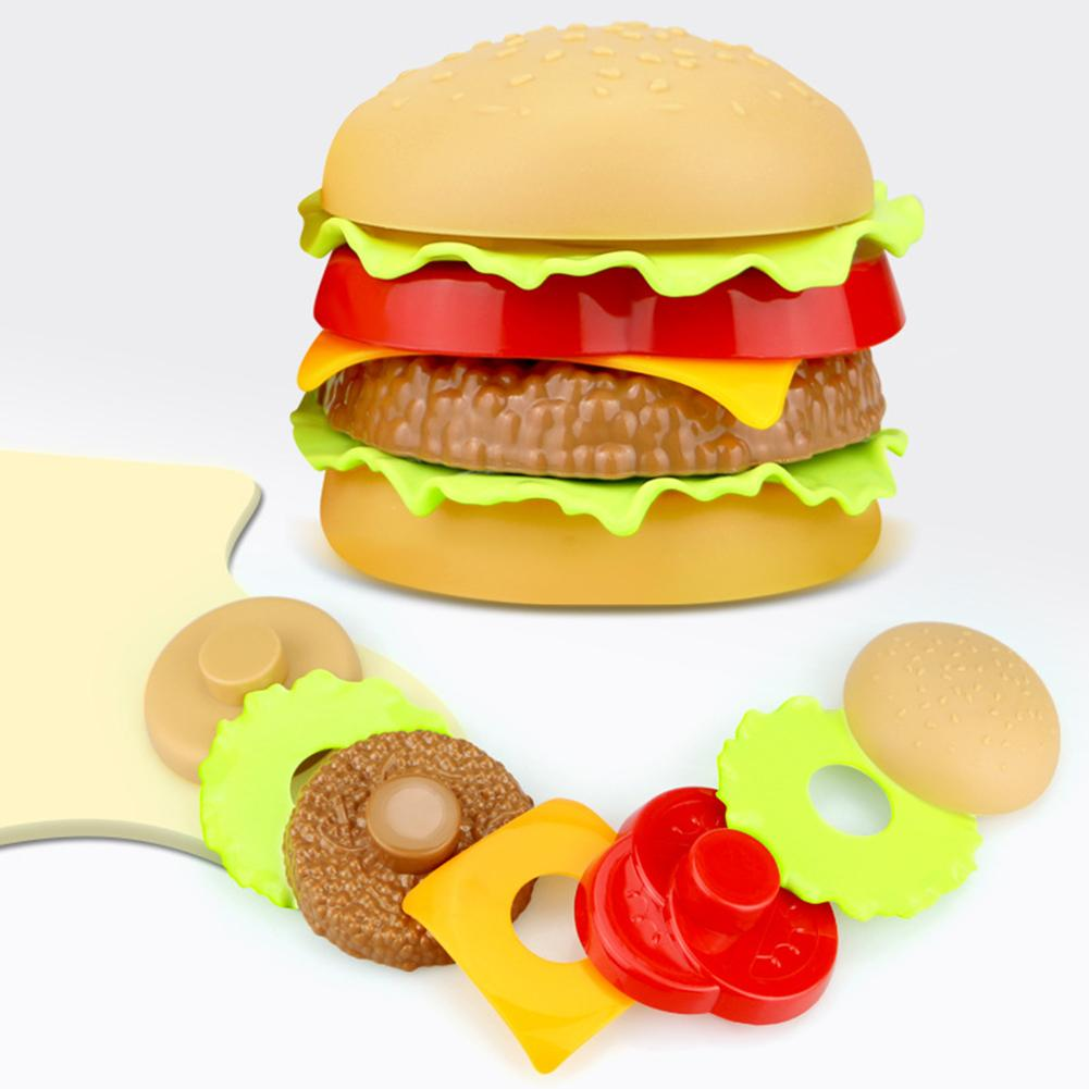 Children Simulation Food Hamburger Hotdog Kitchen Toy Set Pretend Play Miniature Snack Burger Educational Toys For Girl Kid