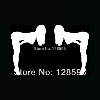 HotMeiNi 2x SEXY WOMEN Silhouette Stickers Truck Mud Flap Vinyl for Car Decal Rear Window Girl Oem Car Sticker image