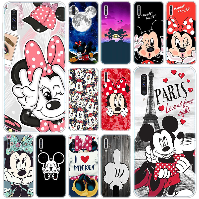 Hot Cute Cartoon Mickey Minnie <font><b>Silicone</b></font> <font><b>Case</b></font> for <font><b>Samsung</b></font> Galaxy A90 5G A80 <font><b>A70</b></font> A60 A50 A40 A30 A20 A10 S A10E A20E M10 M30S M40 image