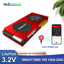 Deligreencs Smart BMS 15S 48V 150A 200A 250A lifepo4 High Current Bluetooth 485 To USB device CAN NTC UART