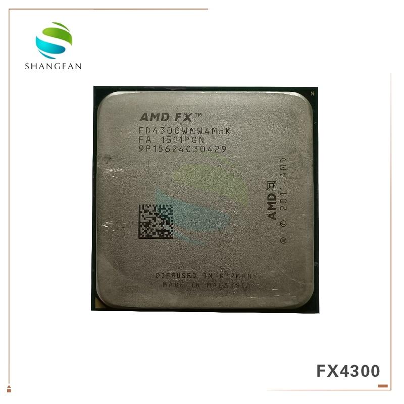 AMD FX-series FX4300 3.8GHz Quad-Core CPU Processor FX 4300 FD4300WMW4MHK 95W Socket AM3+
