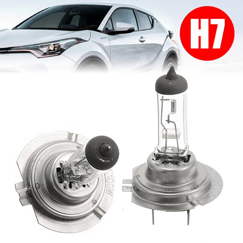Mayitr 2pcs DC 12V H7 100W Car Light High Quality Gas Headlight Light Lamp Bulb White For Car Light Source