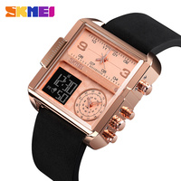 Skmei esportes relógio masculino marca de luxo à prova dwaterproof água relógio de pulso masculino quartzo analógico relógios digitais relogio masculino 1584