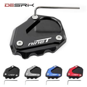 DESRIK For BMW R Nine T R nineT RnineT RNINET 2014-2016 Motorcycle Kickstand Foot Side Stand Extension Pad Support Plate Enlarge