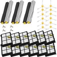 Conjunto extrator de detritos e filtro escova kit para irobot roomba 800 900 série vácuo peças reposição para irobot roomba 800 900 va Peças p/ aspirador de pó     -