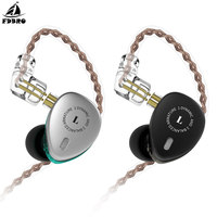 FDBRO KB06 2BA+1DD Hybrid Drivers In Ear Earphone HIFI DJ Monitor Earphone Earbuds With 2PIN Cable Metal Earbud F1/KB10