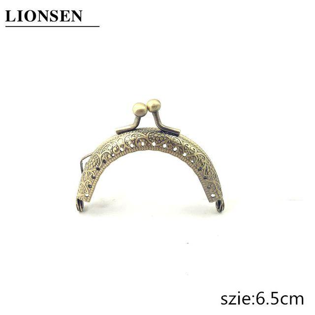 LIONSEN 6.5/7.5/8.5/10.5/12.5/15/18/20cm DIY Metal semicirc Frame Purse Handle Coin Bags Metal Kiss Clasp Lock Frame Accessories 2