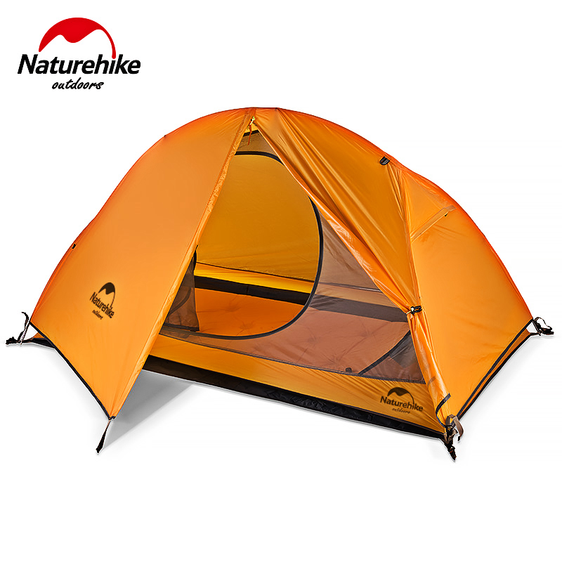 Naturehike Ultra Leichtes Radfahren Rucksack Zelt Hohe Qualität 20D/210T Stoff 1 Person Wandern Camping Zelt mit freies matte