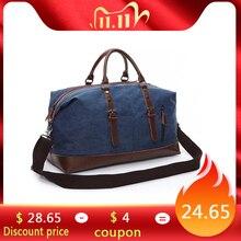 Scione bolsa de lona feminina, bolsa de lona de ombro tamanho grande para viagem, casual e empresarial, bolsa simples de mão de couro vintage