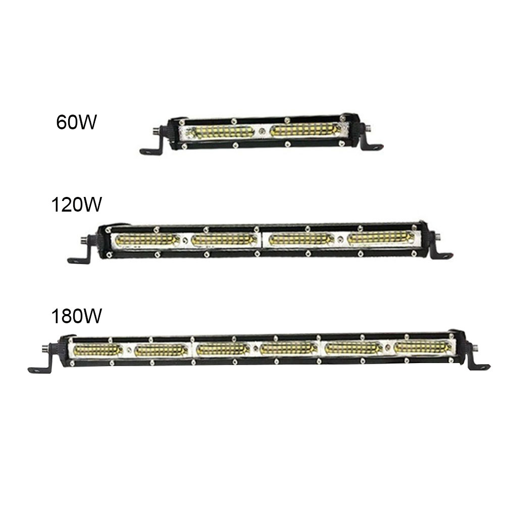 7/13/19 Inch 60W/120W/180W LED Light Bar Spotlight Searchlight For Tractor Trailer Auto Car Motorcycle Ramp Lamp Worklight