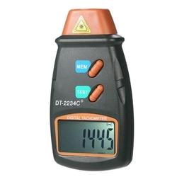 Cyfrowy obrotomierz licznik Rpm bezdotykowy 2.5 Rpm 99999 Rpm wyświetlacz Lcd prędkościomierz Dt2234C Tester prędkość w Przyrządy do pomiaru prędkości od Narzędzia na