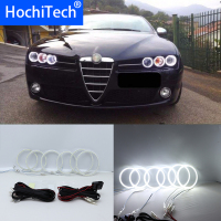 Super Bright White Color Light SMD LED Angel Eyes daytime running light DRL for Alfa Romeo Brera Spider 2005 2011 Car Styling