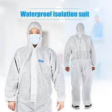 Isolation clothing protection against particles liquid spray Elastic design heat-seal protective clothing 1 PCS