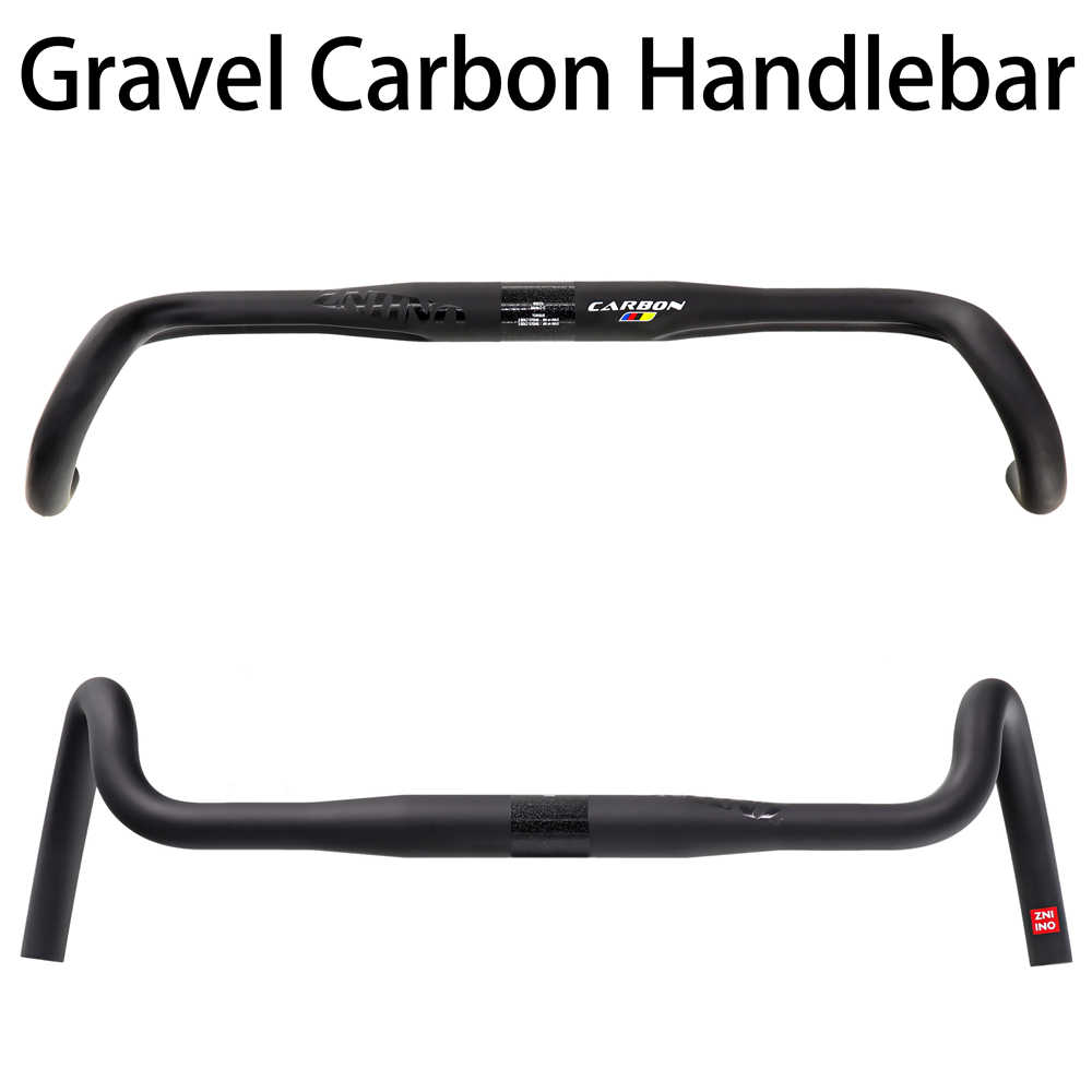 2020 new Carbon Gravel handlebar Big Flare Bar ZNIINO Road Bike handlebars 400/420/440mm carbon fiber bicycle handlebar