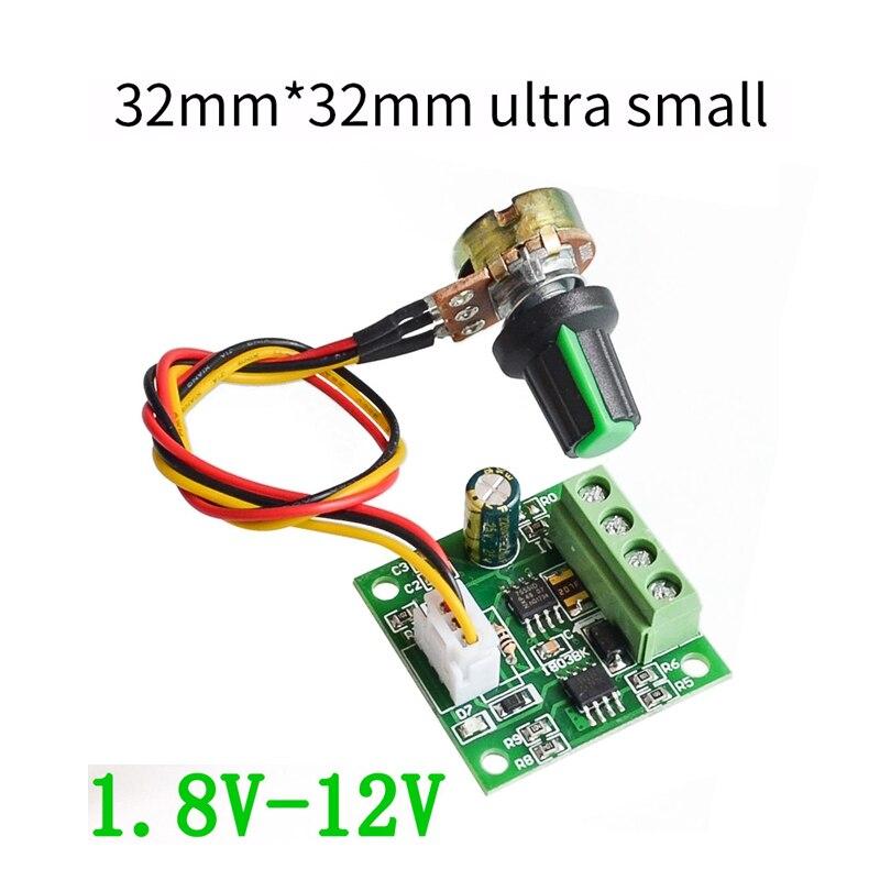 1803BW PWM DC Motor Governor Board 1.8V 3V 5V 6V 12V 2A Speed Control Module