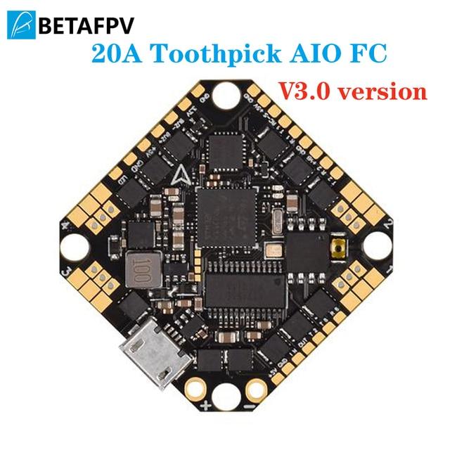 مسواك F4 2 4S AIO فرش وحدة تحكم في الطيران 20A(BLHeli_S) مع Betaflight MATEKF411 المعالج FC OSD suppor 2 4S بطارية