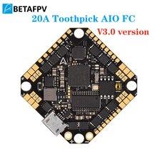 קיסם F4 2 4S AIO Brushless טיסה בקר 20A(BLHeli_S) עם Betaflight MATEKF411 מעבד FC OSD suppor 2 4S סוללה