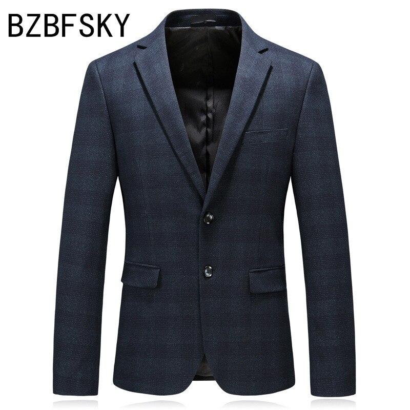 Новое поступление 2018, Высококачественная Мужская одежда, деловые блейзеры, Осеннее повседневное приталенное пальто, Модный классический м...