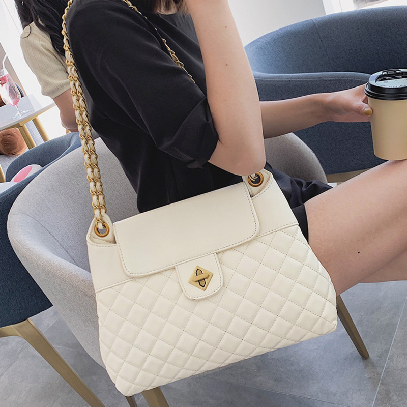 Channels Quilted Women Messenger Bags 2019 New Leather Tote High Capacity Chain Designer Luxury Handbag Famous Pochette Femme