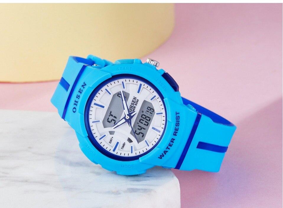 de pulso esporte silicone strap 50M azul