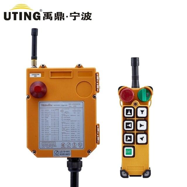 Grúa Industrial F24 6S de Control remoto inalámbrico F24 6D para grúa de elevación 1 transmisor 1 receptor