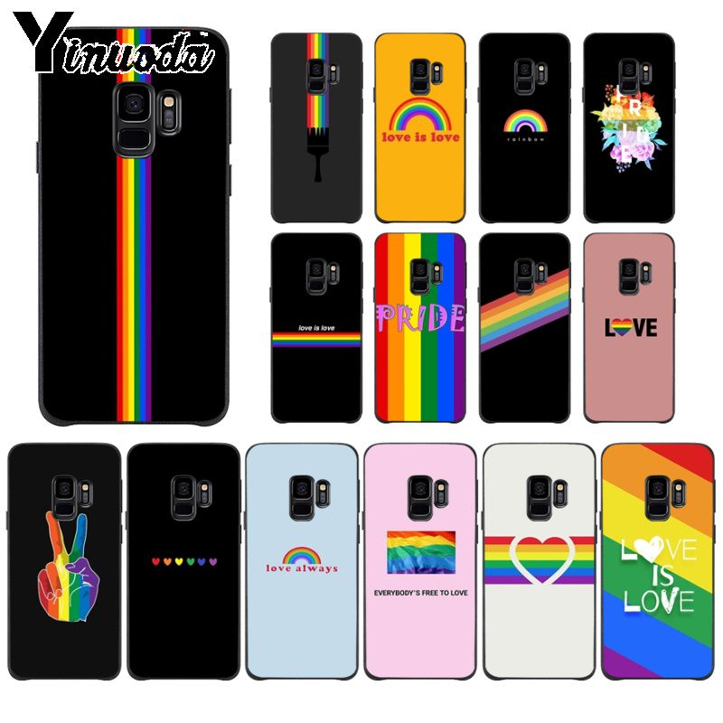 Yinuoda Gay Lesbian LGBT Rainbow Pride TPU Soft Phone Accessories Phone Case For GALAXY s7 edge s8 plus s9 plus s6 s6 edge