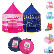 Folding Tent Castle Play House Cubby Gifts Outdoor-Toy Prince Tipi Kids Portable Children