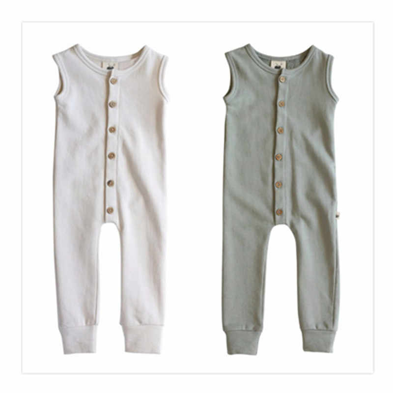 Baby Clothes Jumpsuits sleeveless simple Siamese baby solid pure romper