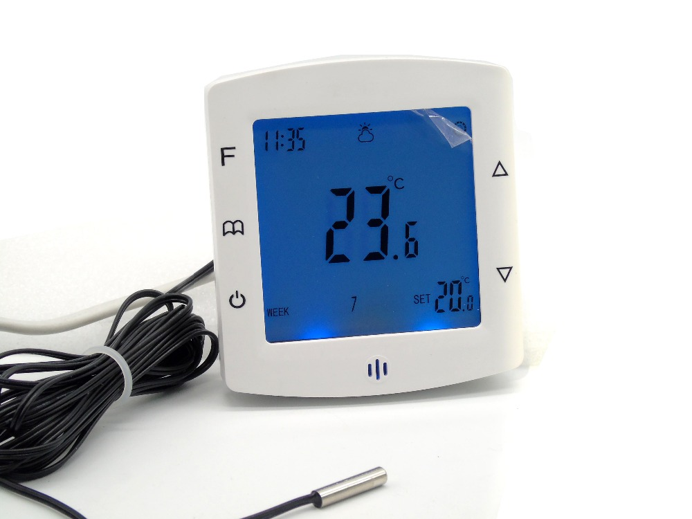 Touch Screen Dual Sensor Smart Thermostat Heating Floor Controler Heating Boiler Thermostat Air Conditioner Smart Home System