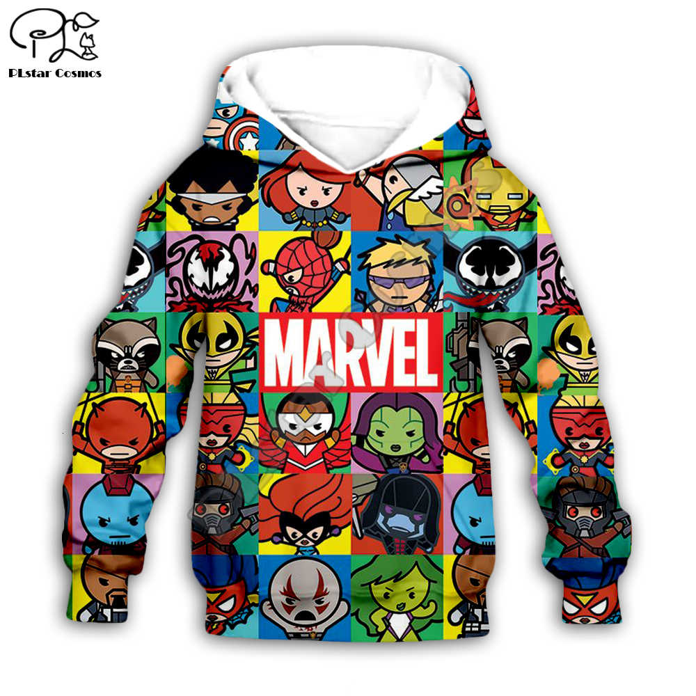 Boys Girls Hoodies Sweatshirts The Avengers Endgame 3D Print Marvel Superhero Captain America Iron Man Sweatshirt Kids Tracksuit